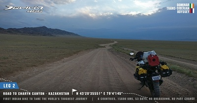 Dirtsack on Dominar Trans-Siberian Odyssey by Bajaj