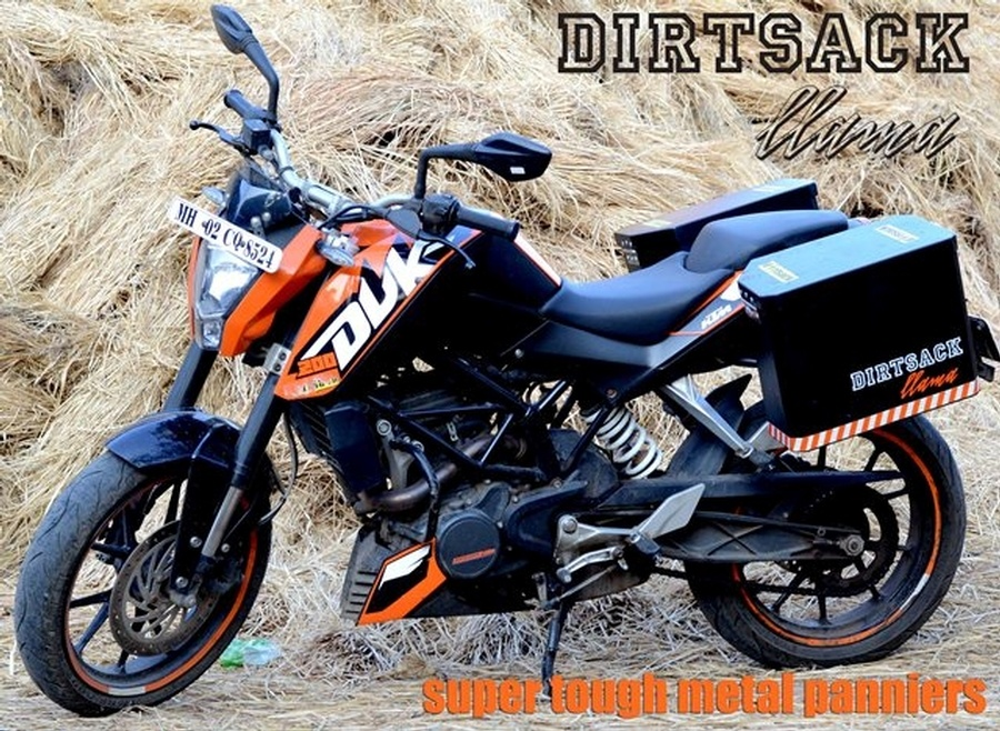 buy dirtsack llama for ktm 390 & 200, rs. 18,000, hard luggage